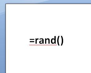 Word-rand